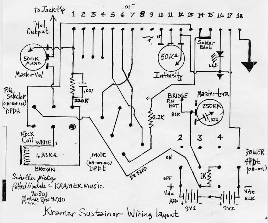 teisco guitar wiring diagram imperial