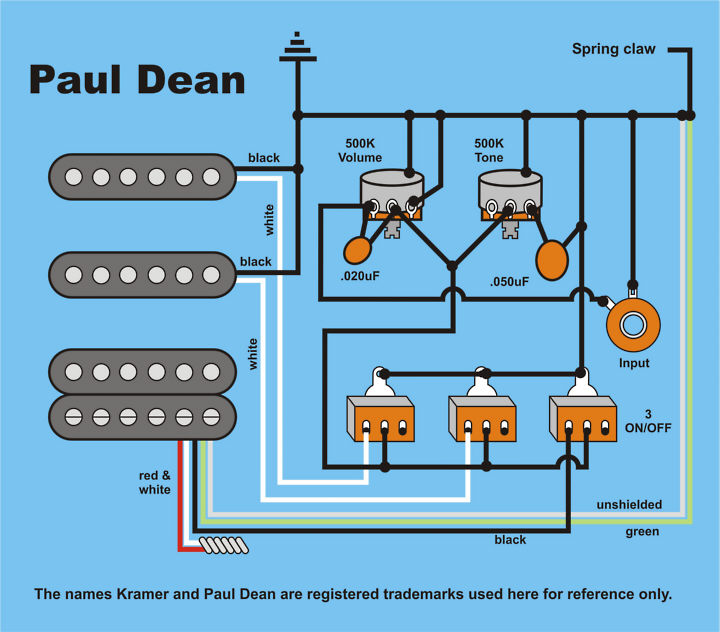 wiring-pauldean  Humbucker Single Coil Wiring Diagram on 1 single coil guitar pick up, gibson sg, pickups series,